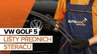 Montáž přední a zadní List stěrače VW GOLF V (1K1): video zdarma