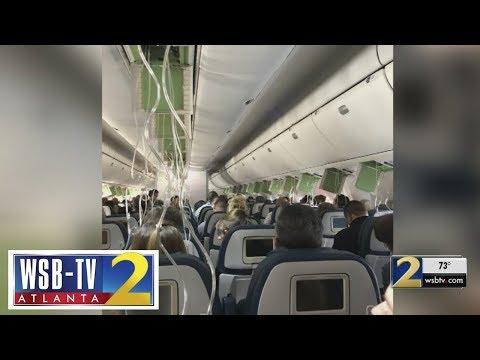 Panic in the sky: Delta flight from Atlanta plunges nearly 30,000 feetc