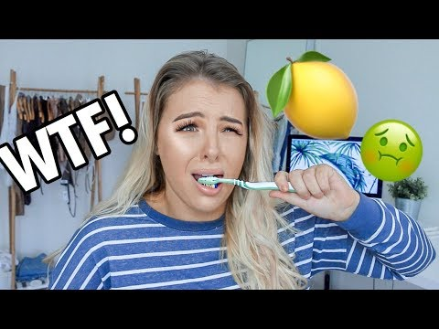TRYING LEMON FLAVOURED TOOTHPASTE!! *NOT CLICKBAIT*