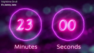 🎶 23 minute Timer with RELAXING MUSIC 🎶  PURPLE BACKGROUND AND COUNTDOWN