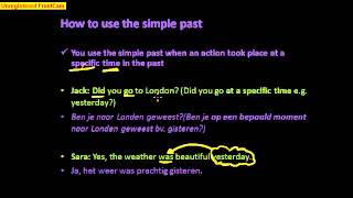 How to use the simple past 2