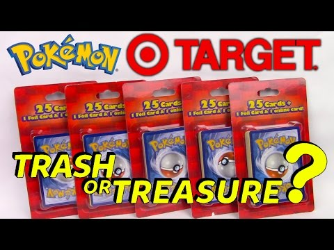 $5 Repackaged Pokemon Card Blister Packs From Target X5 25 Cards + 1 Foil Card + 1 Online Code Card