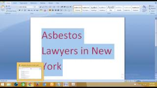 Asbestos Lawyers in New York 2017