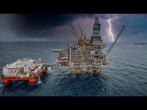 Working on Offshore Oil Platform