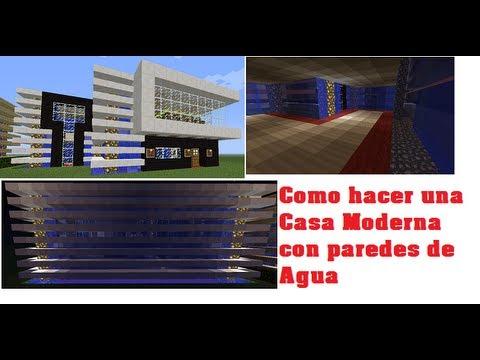 Minecraft como hacer una linda casa moderna con paredes de - Como construir tu casa ...