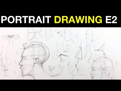 Beginner Portrait Drawing E2 | Profile Proportions