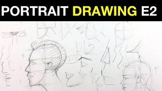 Acemi Portre E2 | Profil Oranlarda Çizim