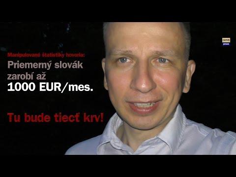 Priemerný slovák zarobí 1000 EUR! Trexima blúzni štatistiky za milióny!