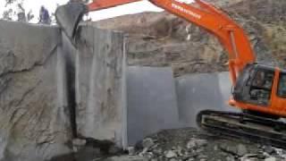 Black granite quarry