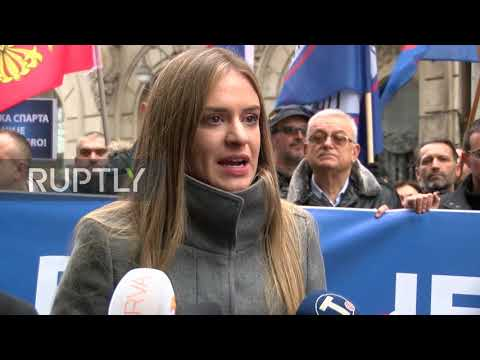 Serbia: Hundreds protest new Montenegrin religious law
