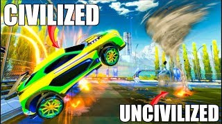 CIVILIZED VS UNCIVILIZED ROCKET LEAGUE