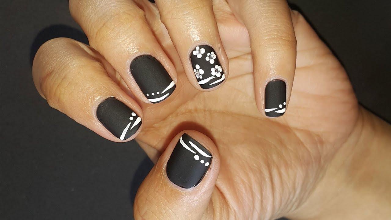 black matte nails nail design