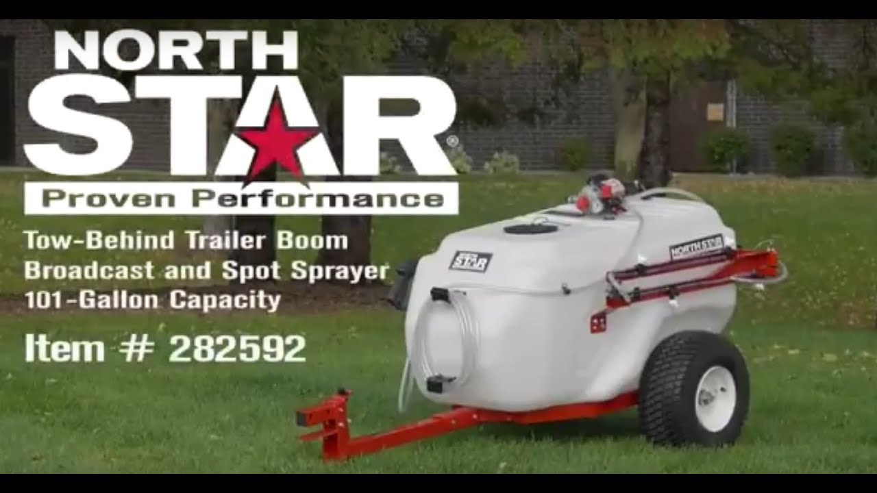 NorthStar Tow-Behind Trailer Boom Broadcast and Spot Sprayer 101-Gallon  Capacity 7 0 GPM 12V DC