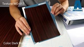 Artesive WD-017 Dark Mahogany- Texture Model of Self-adhesive Film