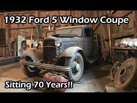 Estate Auction Adventure- 1932 Ford Coupe Barn Find !