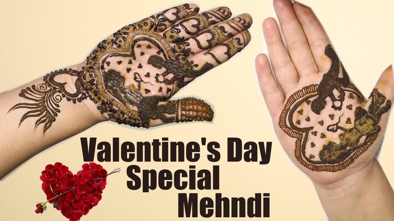 Valentine S Day Special Mehndi Valentine Design Mehndi Love