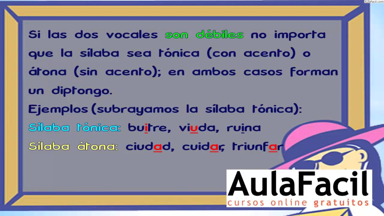 El Diptongo/Lengua Cuarto de Primaria (9 años)/AulaFacil.com