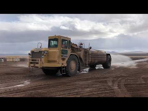 CAT 621G Water Pull in Eldorado Valley, Nevada