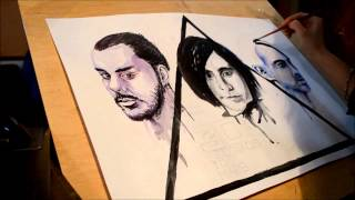 Speed painting/ 30 seconds to Mars/Jared Leto/Shannon Leto/Tomo Milicevic