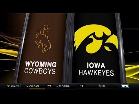 Wyoming at Iowa - Football Highlights