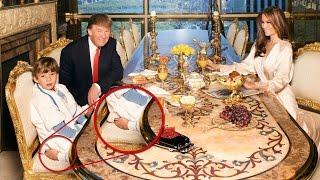 Esta Foto de Donald Trump y su Familia se ha Hecho Viral por un Inquietante Detalle