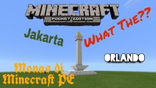 Cara Membuat Monas Di Minecraft PE | TIME LAPSE
