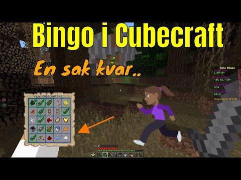 Bingo, men inte lotto i Cubecraft   Minecraft på svenska
