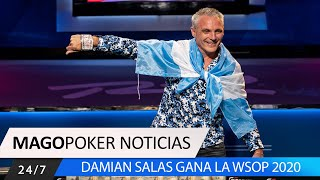 Damian Salas, ganador de la WSOP 2020. #Pokernoticias #Damiansalas #Pokerargentina