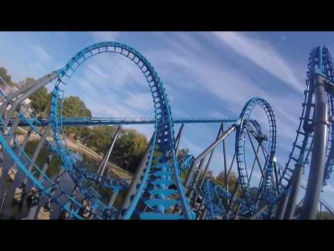 Blue Hawk - Six Flags Over Georgia - on ride front row