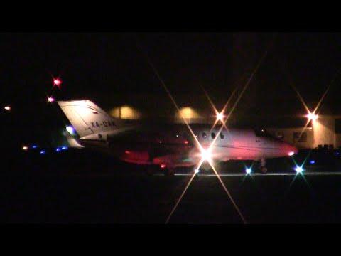 Private Raytheon Hawker 800 [XA-DAK] Takeoff from Santa Barbara Airport
