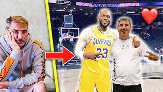 I saw my Dad cry, so I surprised him with his DREAM GIFT... *SUNS VS LAKERS GAME*