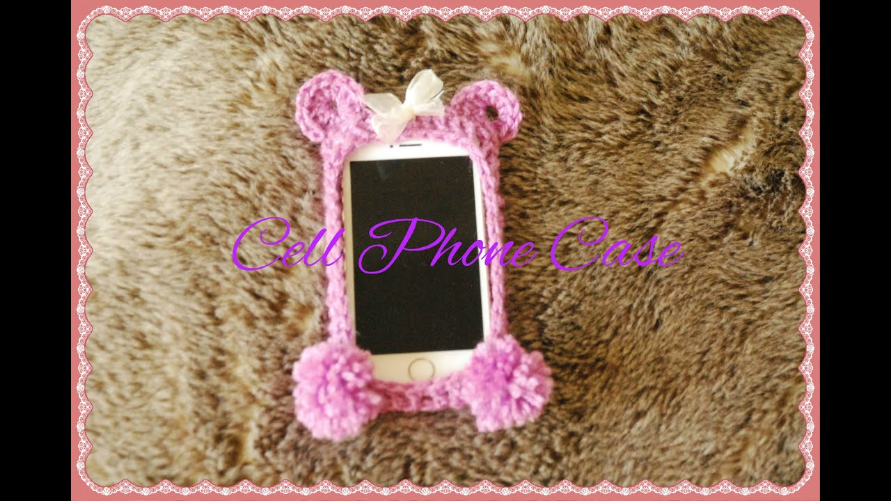 Iphone case purple bear crochet cell phone case youtube dt1010fo
