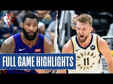 PISTONS At PACERS | FULL GAME HIGHLIGHTS | October 23, 2019