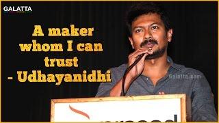 A maker whom I can trust - Udhayanidhi at Saravanan Iruka Bayamaen Press Meet
