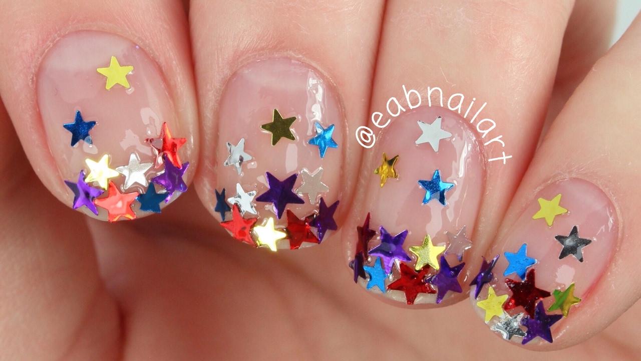 Crazy star glitter gradient nail art youtube crazy star glitter gradient nail art prinsesfo Choice Image