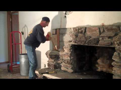 Milwaukee Fireplace Demolition At The Lookout Project In Brookfield Wi Youtube
