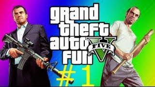 GTA 5 FUNNY MOMENET # 1ROBBING SPREE,IN THE HOOD,TRAIN WARS