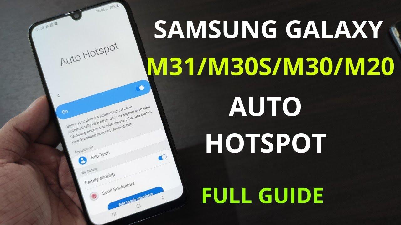 Samsung Galaxy M31/M30s/M20 : Auto Hotspot Full Guide