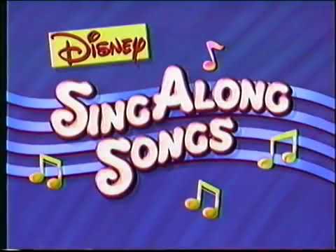Disney Sing Along Songs Christmas Vhs.Opening To Disney Sing Along Songs Very Merry Christmas Songs 1994 Vhs
