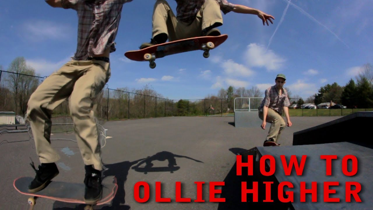 How To Ollie Higher On A Skateboard For Beginners While Moving  Trick Tip