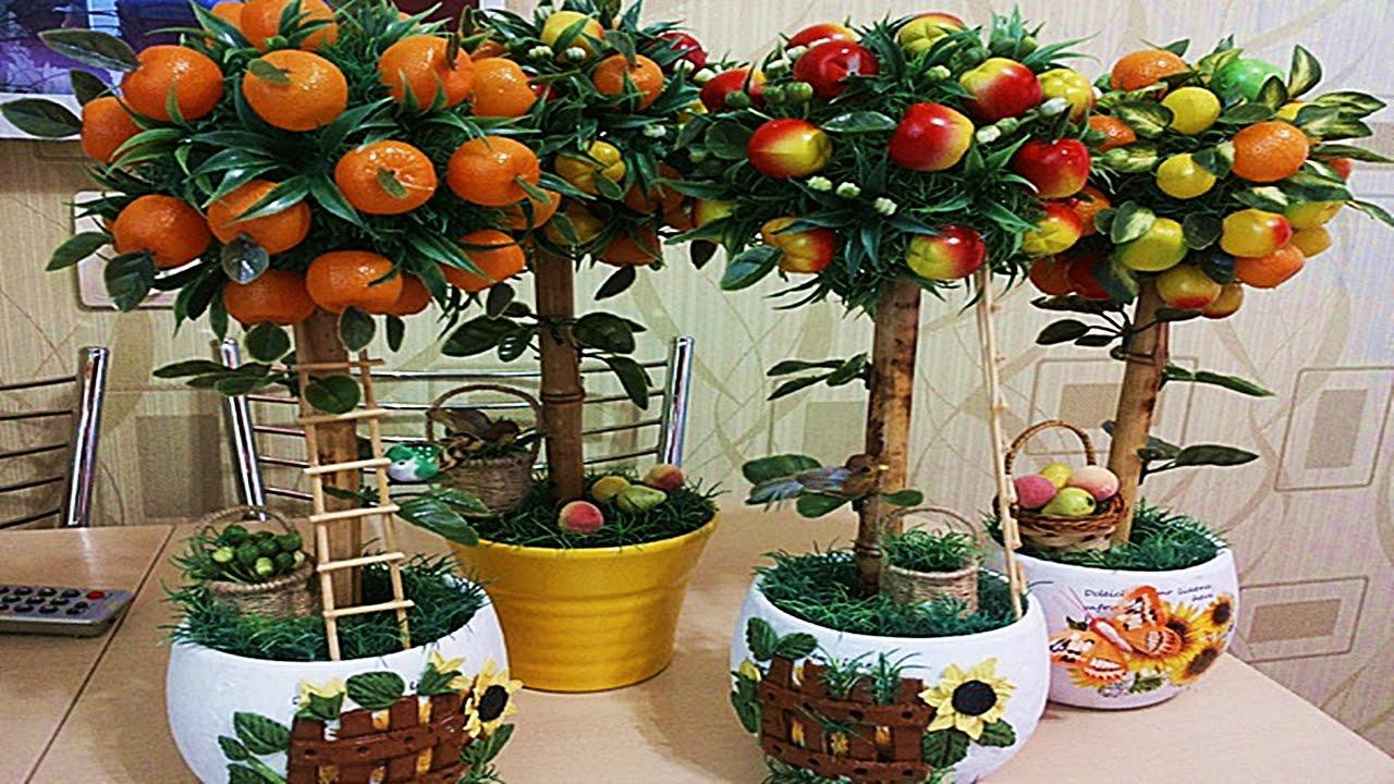 Топиарий с фруктами своими руками для начинающих фото 58