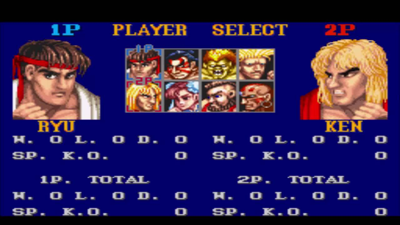 Street Fighter 2 Player Select Theme Hd Youtube