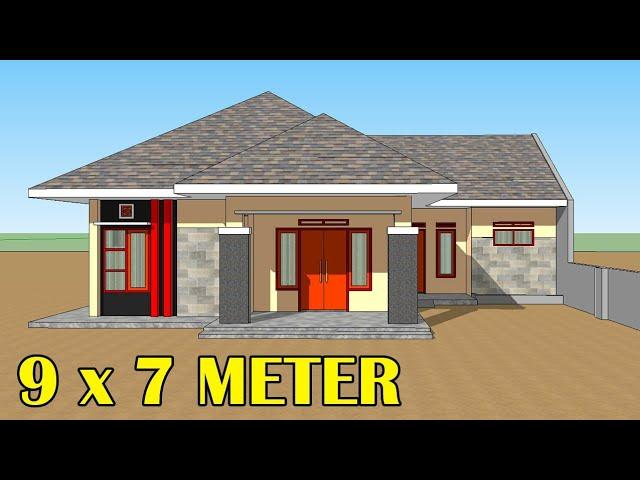Desain Rumah 7 X 9 Meter 3 Kamar Tidur Atap Limas Sketchup Design Youtube