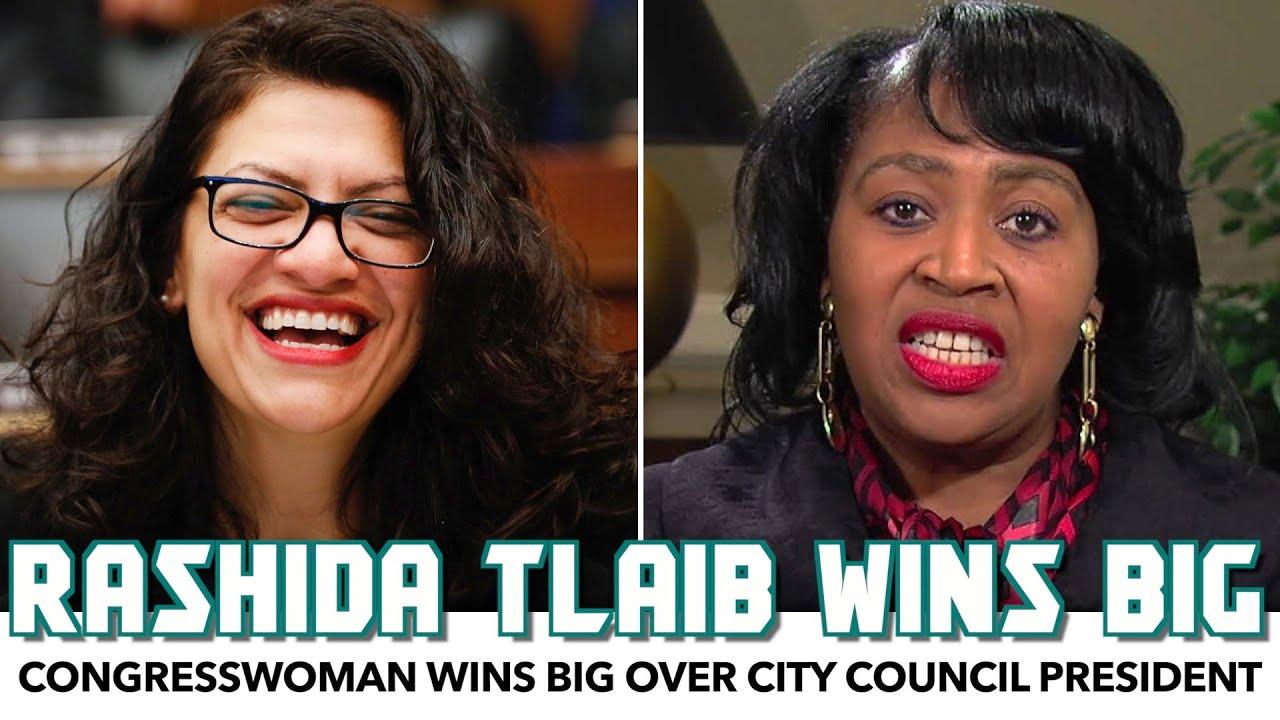 Rashida Tlaib Wins BIG Over Detroit City Council President