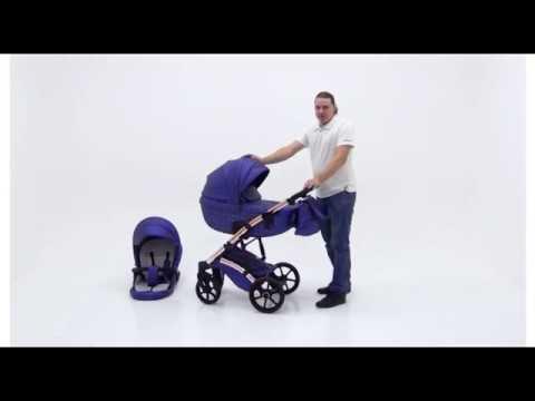 PITUSO CRISTAL коляска 2 в 1 видео обзор