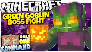 Minecraft | PUMPKIN BOMBS!? | Green Goblin Boss | Only One Command (Minecraft Custom Command)