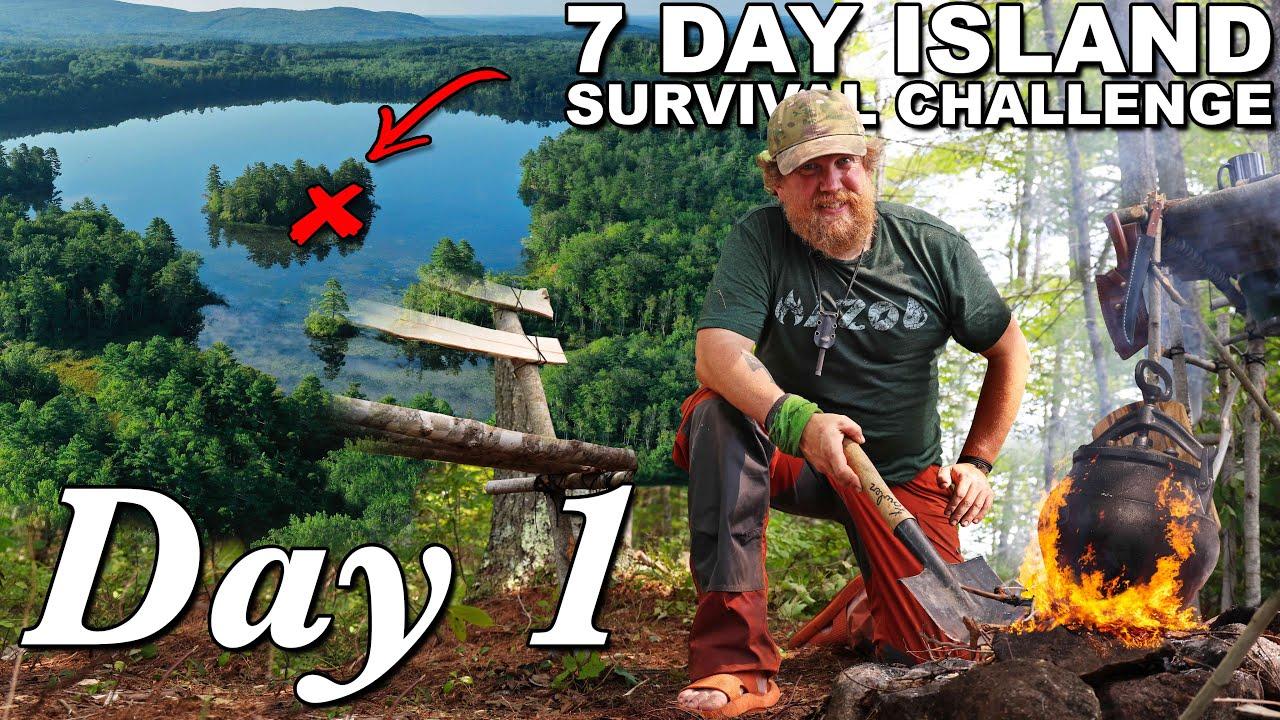 Download 7 Day Island Survival Challenge Maine - Day 1of 7 - Catch and Cook Survival Challenge !