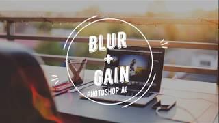 Экшн для фотошоп Blur + gain.  Супер быстрая ретушь портрета