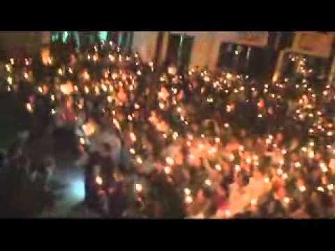 Thái Hà thắp nến cầu nguyện cho Ts Cù Huy Hà Vũ 2/4/2011