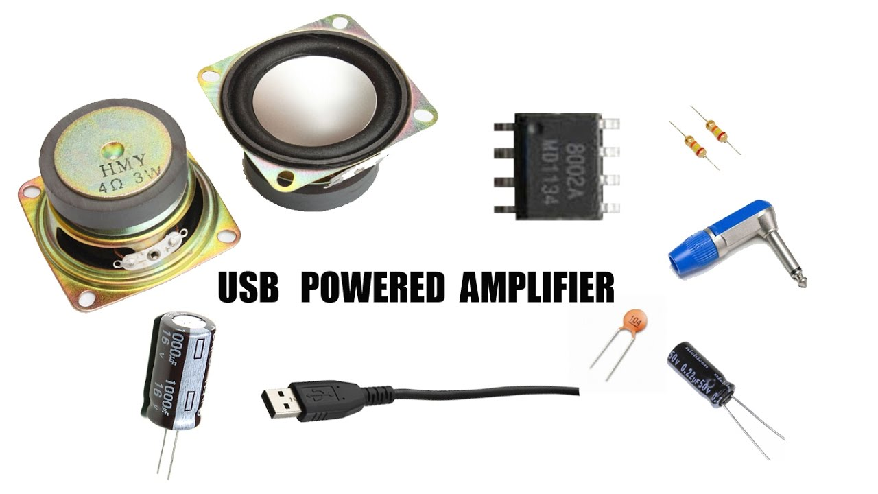 How To Make A Amplifier Usb System 8002a Youtube Stereo Circuit Audio 595x476 Lm386